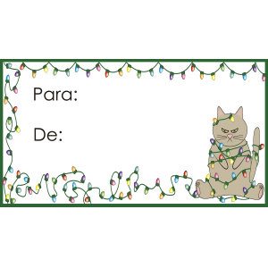 Tarjeta para regalo con gato
