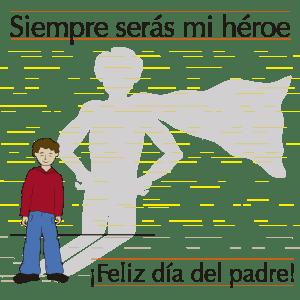siempre serás mi héroe, ilustración en vectores para el día del padre shutterstock