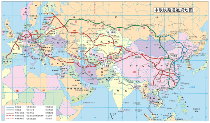 China Europe train routes