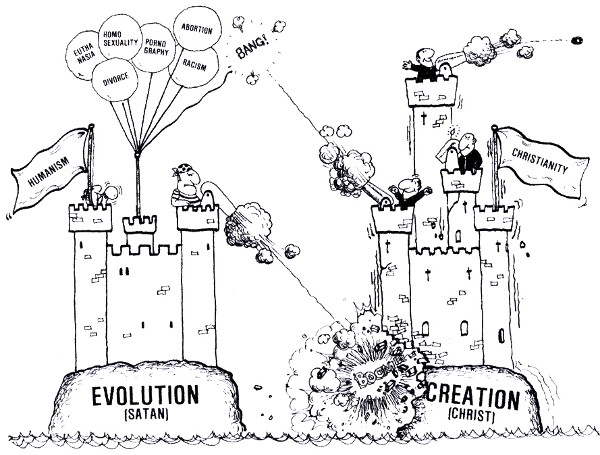 Flap over creationist cartoon shown in high-school class