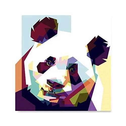 ezposterprints cubism coloured animal