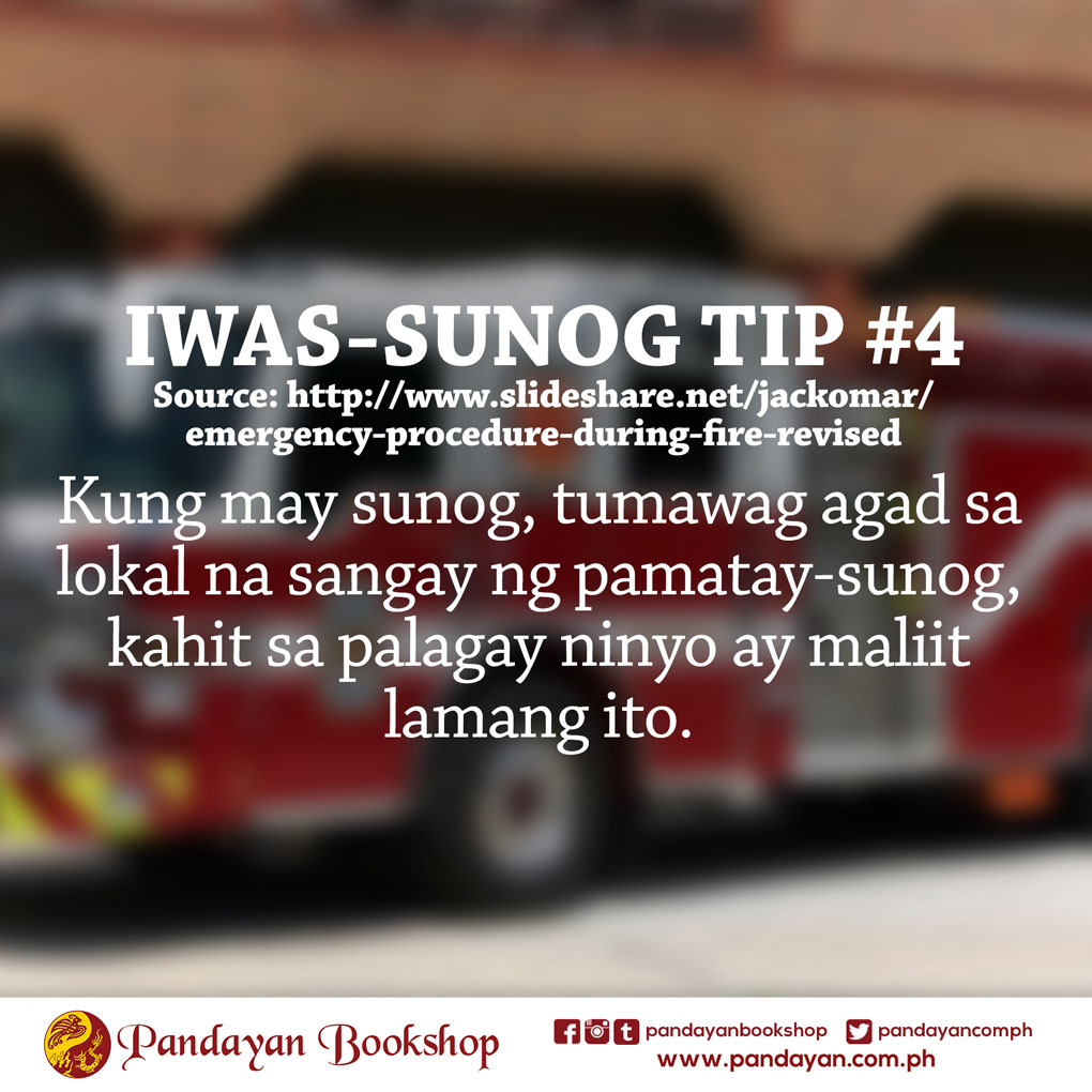 Fire Prevention Month 2016 Iwas Sunog Tips Pandayan