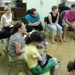 Alumnos durante las explicaciones