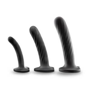 Twist Silicone Dildo with Suction Cup Set of Three
