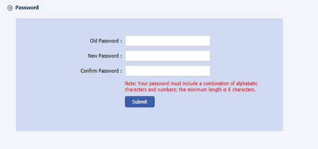 Change New Password
