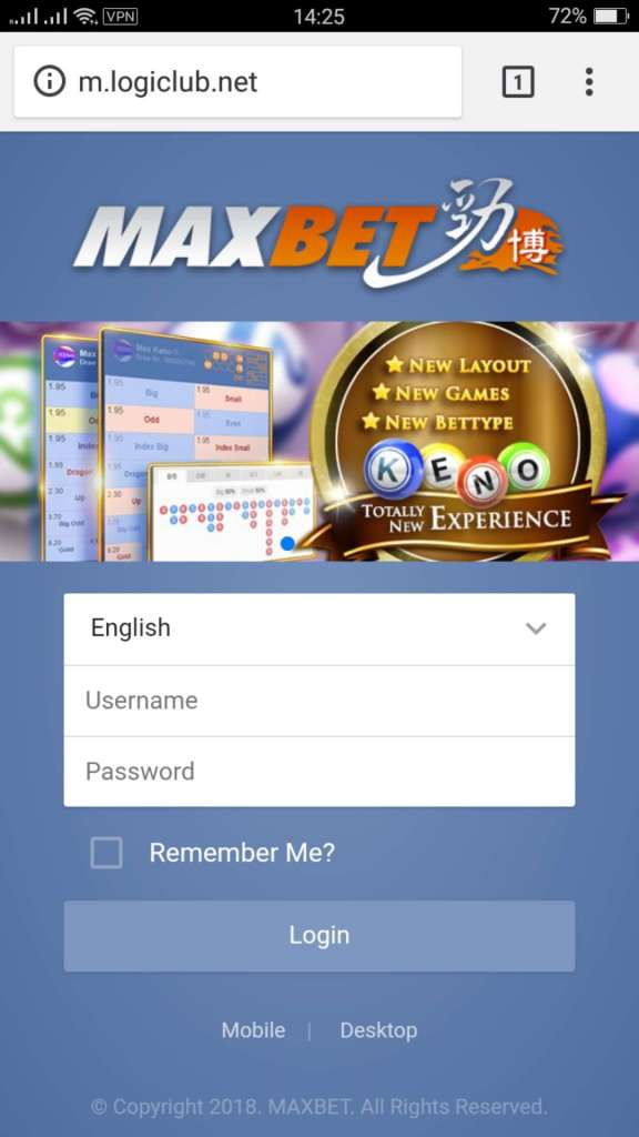 Tampilah Home Maxbet Mobile