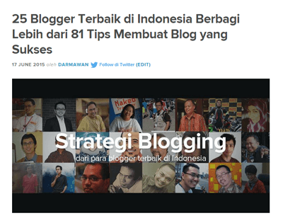 Tips Blogging Sukses