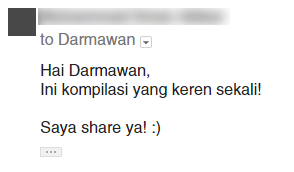 Respon email outreach