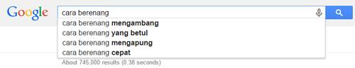 Search Cara Berenang