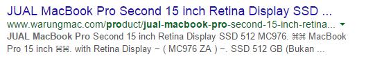 WarungMac MacBook Pro