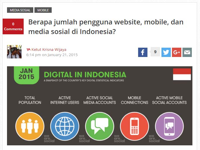 Data pengguna social media Indonesia