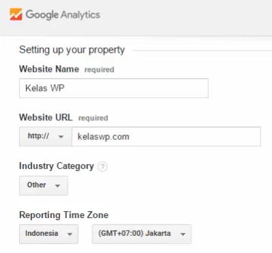 Informasi website di Analytics