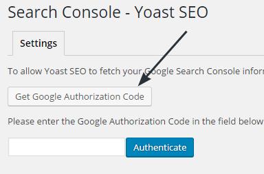 Otentikasi Google Yoast