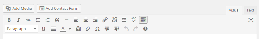 Toolbar editor WordPress