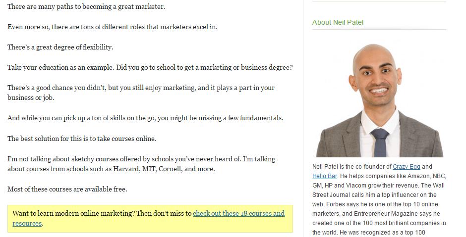 Neil Patel Marketing Tactic