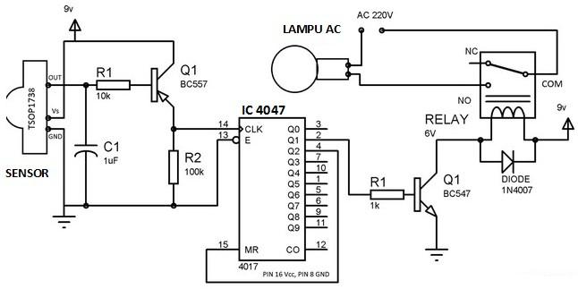 S107 Parts Diagram Rangkaian Remote Kontrol Lampu Panduan Teknisi