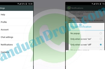 Setting, WhatsApp, Notifikasi, Lock Screen