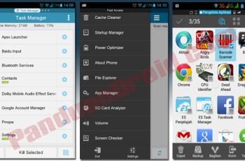 Uninstall app, es task manager, aplikasi android