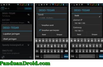 Setting IP Manuan, Android 4.2.2 Jelly Bean, Setting Hotspot
