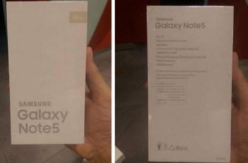 Rumor Ter, Samsung Galaxy Note 5