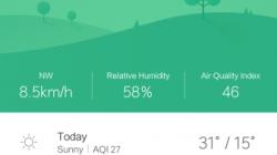 MIUI 8 Public Beta - Weather App