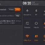 Xiaomi, Redmi 3X, Notifikasi bar