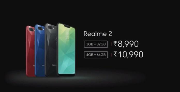 Realme 2 Resmi Diperkenalkan