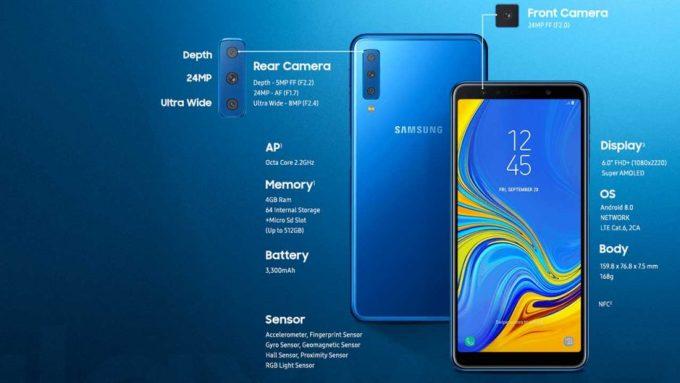 Samsung A7 2018 dengan 3 Kamera