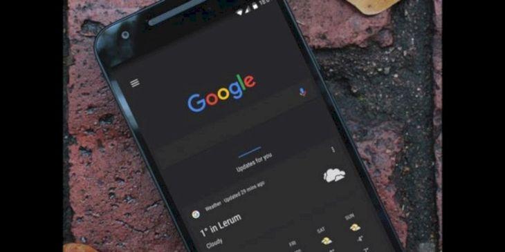 Mengaktifkan Google Chrome Dark Mode