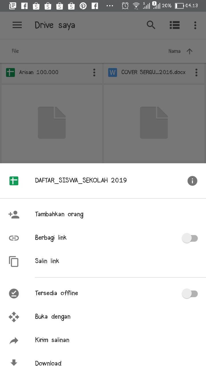 Berbagi Link di Google Drive