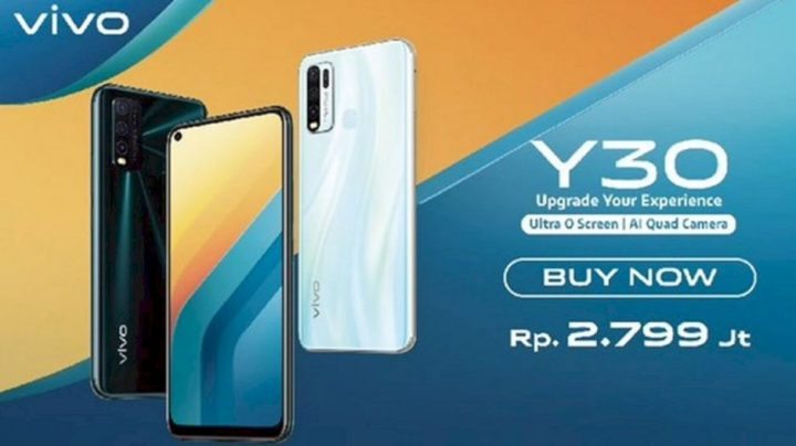 Vivo Hadirkan Y30 dengan Layar Ultra O Screen