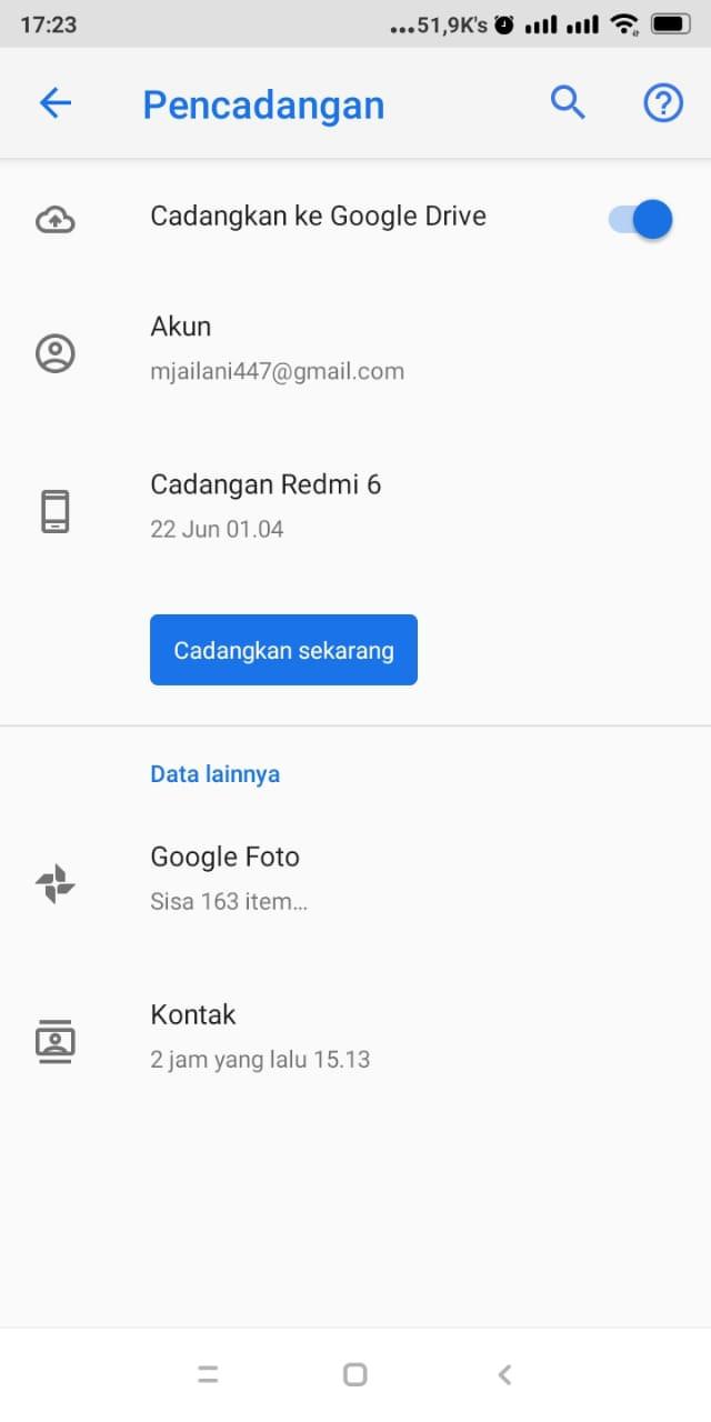 Mencadangkan Data Smartphone Lama Anda (Backup)