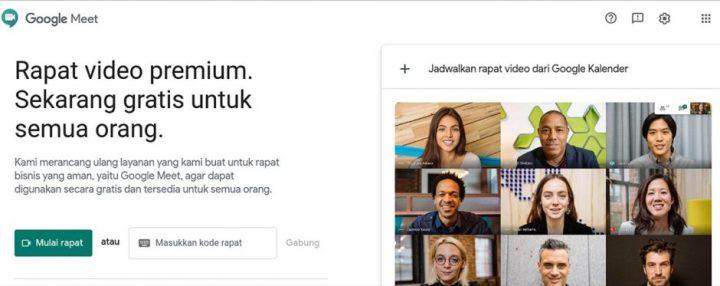 Tampilan Awal Google Meet