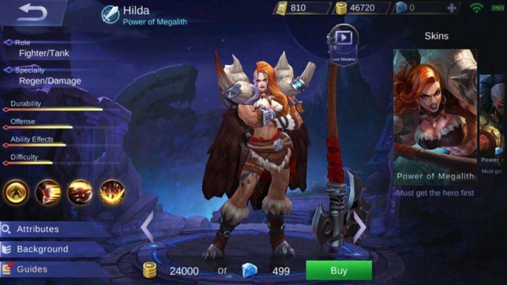 Hero Hilda Mobile Legends