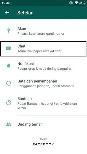Pilih opsi chat