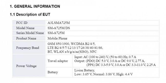 Samsung Galaxy A72 4G Sertifikasi FCC
