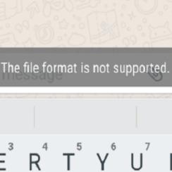 Format File Tidak Support Di WhatsApp