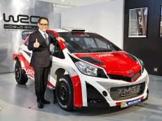 Akio Toyoda dan Toyota Yaris WRC