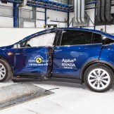 Tesla Model X - Pole crash test 2019 - after crash