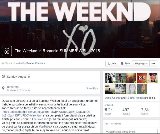 The Weeknd  - Summer Well 2015
