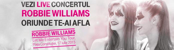 Telekom transmite live concertul Robbie Williams de la Bucuresti