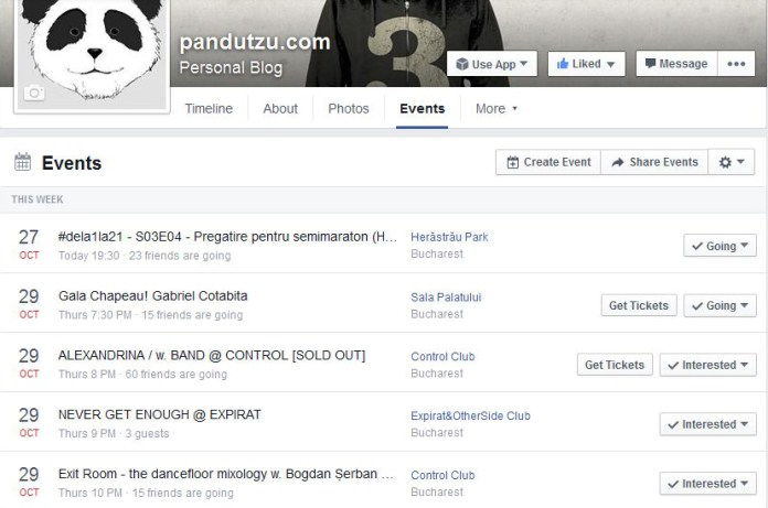 Facebook - page events