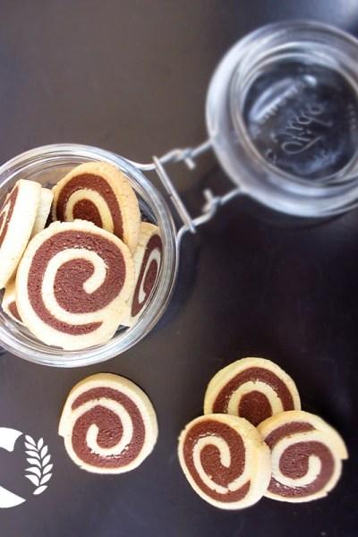 Biscotti girella senza glutine di pasta frolla