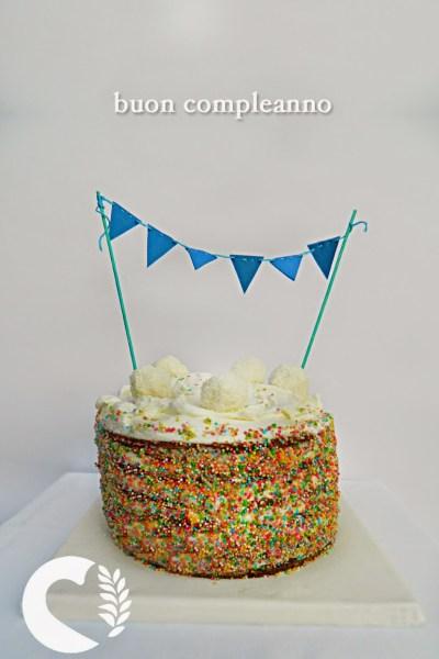 RAINBOW CAKE SENZA GLUTINE