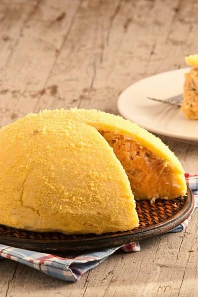 Torta di polenta e baccalà di Luca Montersino