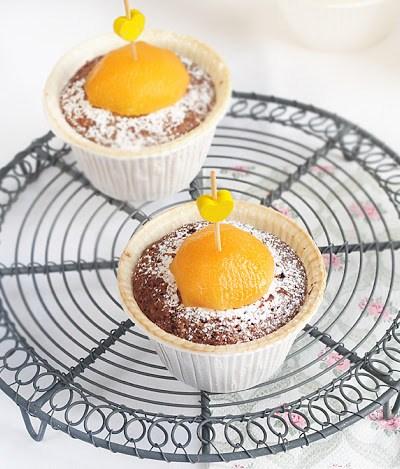 Muffin con albicocche, senza glutine