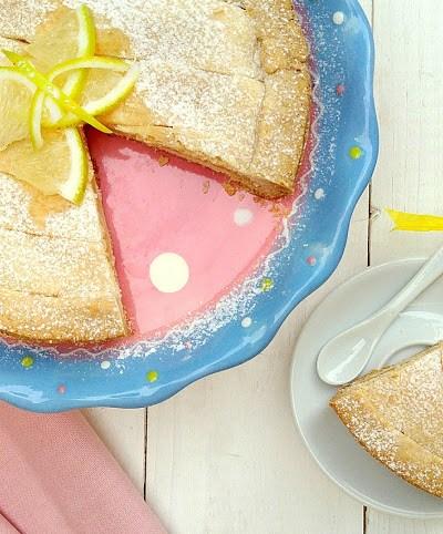 Crostata senza glutine, con crema al limone senza latte