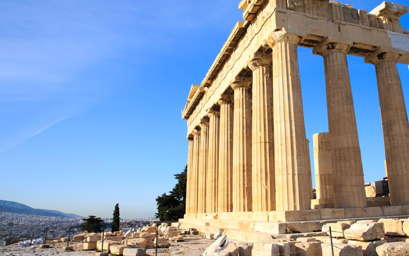 Parthenone sull' Acropoli ad Atene, Grecia