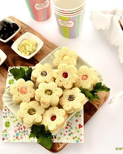 Sandwich fiore senza glutine… ecco l'apertitivo sfizioso!