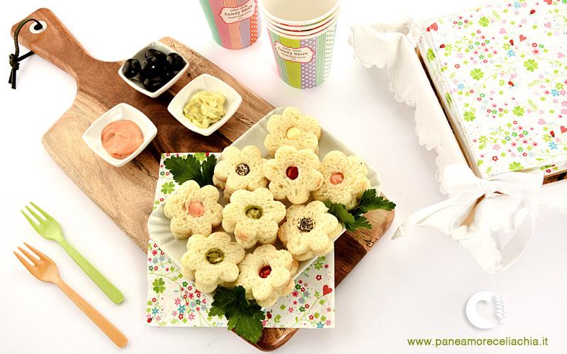 Sandwich fiore senza glutine